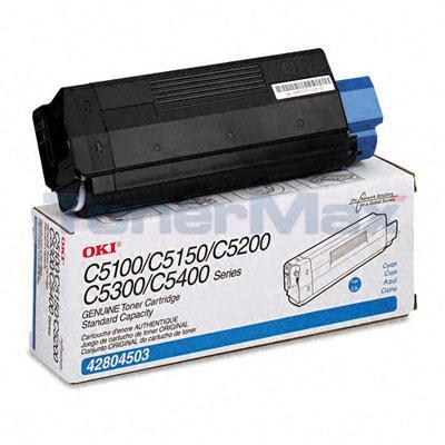 OKIDATA C5100N TONER CYAN 3K